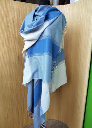Широкий шарф палантин с серёжками decelia classic
