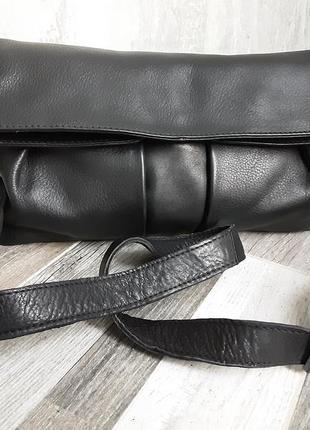 Фирменная сумка-клатч manfield. кожа