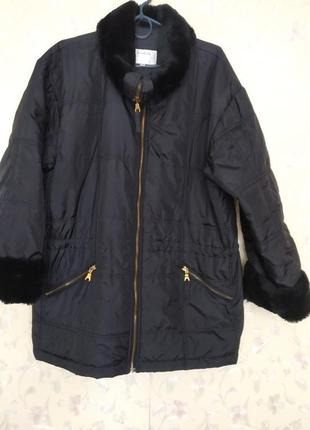 Куртка oversais парка с мехом h&m