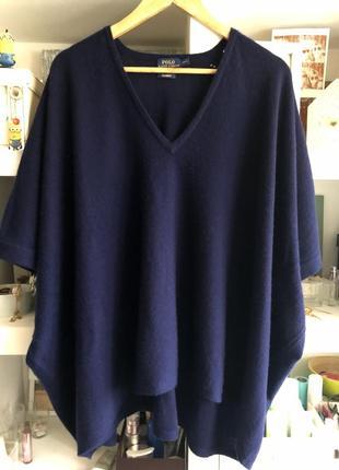 Свитер темно-синий polo ralph lauren 100 % кашемир !