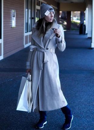 Стильное шерстяное пальто, пальто calvin klein