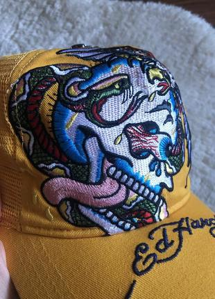 Крутая яркая кепка бейсболка унисекс ed hardy американского бренда