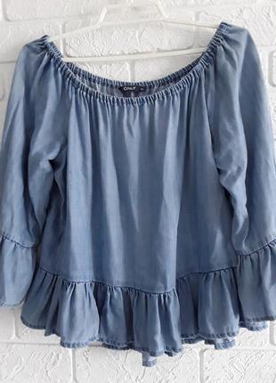 Топ , туника , блузка  из лиоселя с оборочками    only