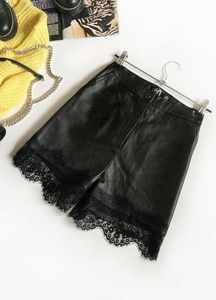 Нереальные кожаные шорты с высокой посадкой missguided