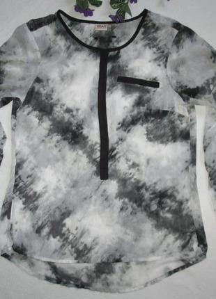 Суперовая легкая нежная шифоновая блуза в мраморный принт only
