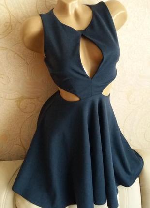 Очень стильное красивое сексуальное вечернее коктейльное платье пышная юбка