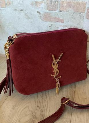 Новая женская сумка из натуральной замши