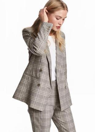 Трендовый костюм пиджак+брюки h&m р 40