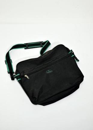 Черная мужская сумка с длинной ручкой samsonite. код 219.
