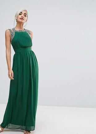 Длинное платье с красивой спинкой от asos