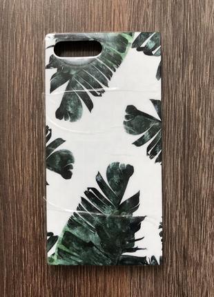 Чехол для айфона 7 плюс iphone 7 plus листья пальмы кейс для смартфона