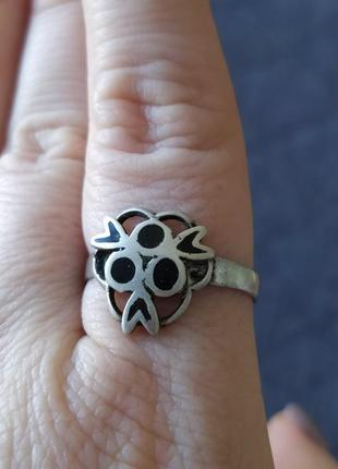 Винтажное кольцо с чернью. кубачинские мастера