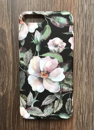 Чехол для айфона 7 плюс iphone 7 plus акварельные цветы кейс для смартфона