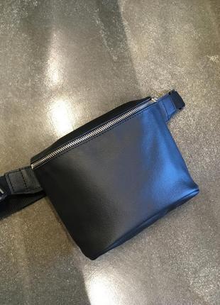 Кожаная бананка, поясная сумка из натуральной кожи, сумка на пояс