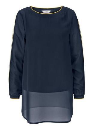 Элегантная шифоновая блузка-рубашка  tcm tchibo германия