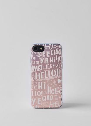 Силиконовый прозрачный чехол кейс для iphone 6 / 6s / 7 / 8 bershka