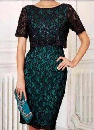 Кружевное платье от m&co p. 12 l