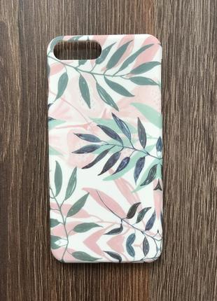 Чехол для айфона 7 плюс iphone 7 plus листья кейс для смартфона