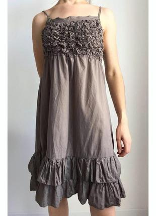 Платье, плаття коричневе.