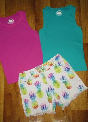 Летний комплект next : шорты next и футболка m&s, рост 140-146 см, хлопок