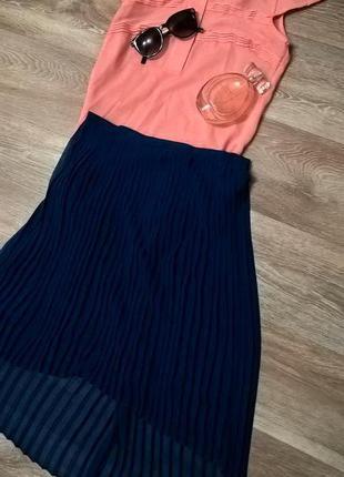 Актуальная плиссированная юбка reserved 34p.
