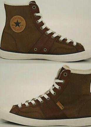 Converse кеды тёплые кожаные