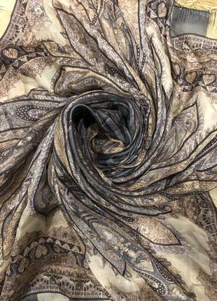 Шелковый платок шарф hallhuber