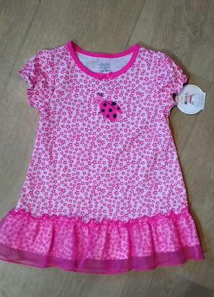 Красивое розовое платье для девочки