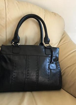 Кожаная сумка 100%кожа натуральная