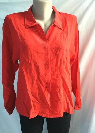 Красная шелковая блузка chaque-fois