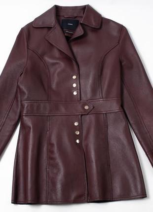 Uterque leather women's coat  кожаная куртка жакет
