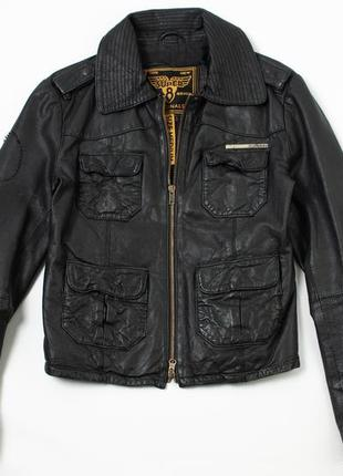 Superdry кожаная куртка