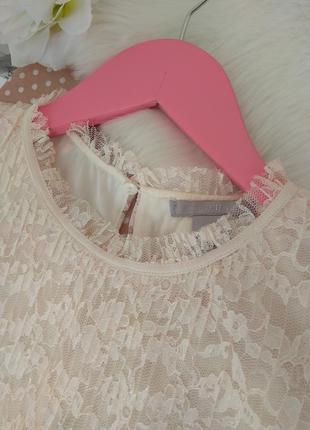 Нежная плиссированная блуза без рукавов с воротником стойкой от н &м