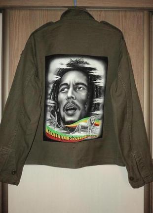 Куртка пиджак жакет милитари bob marley natural mystic