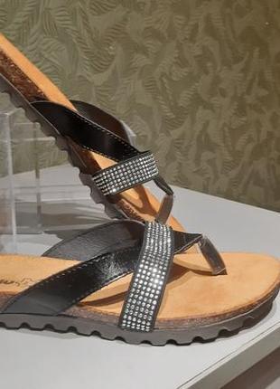 Женские кожаные тапочки на низком ходу 36р inblu