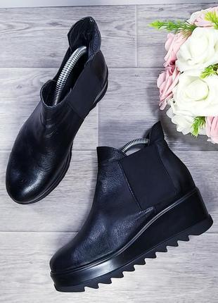 Мода 2020 ботинки кожаные р36