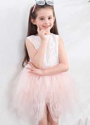 12-50 нарядное красивое детское платье на выпускной праздник утренник фотосессию