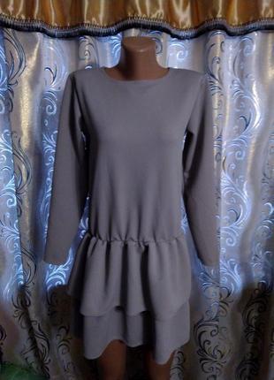 Симпатичное платье из фактурной ткани pakuten