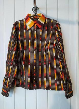Винтажная шелковая приталенная  рубашка botthof германия