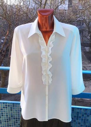 Новая элегантная шелковая блуза прямого кроя с разрезами по бокам от  frankenwalder