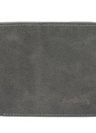 Мужской кошелек бумажник baellerry (d8661) темно-серый