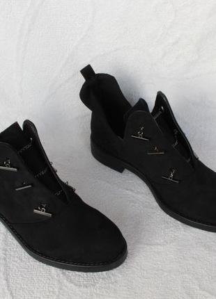 Демисезонные ботильоны, ботинки, полуботинки, туфли 38 размера на низком ходу