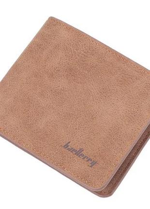 Мужской кошелек бумажник baellerry (d8661) коричневый