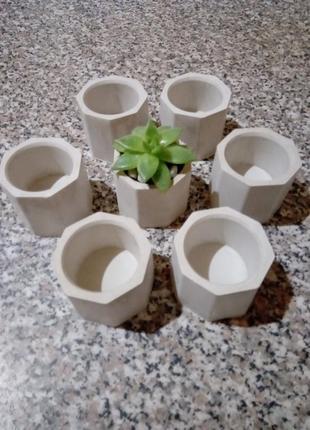 Кашпо/ вазон/горщик лофт для кактусів, моху, сукулентів.