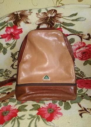 Кожаный рюкзачок