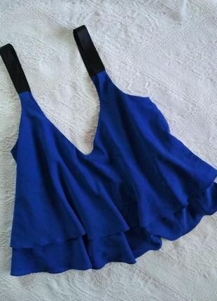 Zara укороченный топ, кроп, майка, блузка