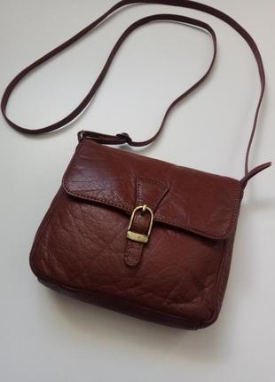 Tu кожаная сумочка, коричневый клатч