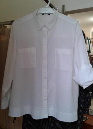 Стильная коттоновая рубашка 40-42-44р.