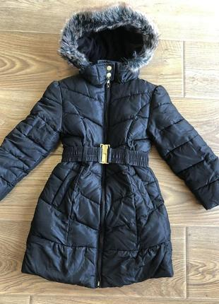 Крутяцька пальто-куртка для модниці 4-5 рочків