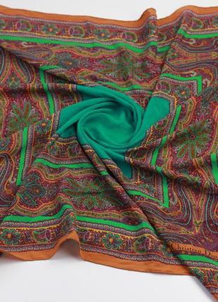 Фирменный шелковый платок по типу hermes chanel